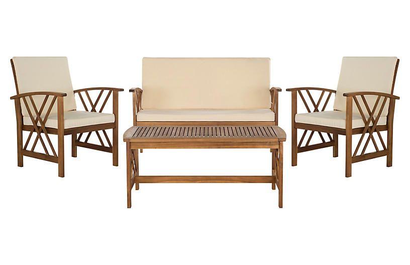 Fontana 4-Pc Outdoor Set - Teak | Patio furniture sets ... on Fontana 4 Pc Outdoor Set id=54111