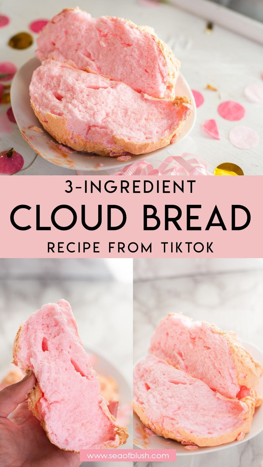 The Dreamy Cloud Bread Recipe Everyone On Tiktok Is Making Recipe In 2020 Cloud Bread Yummy Food Dessert Recipes