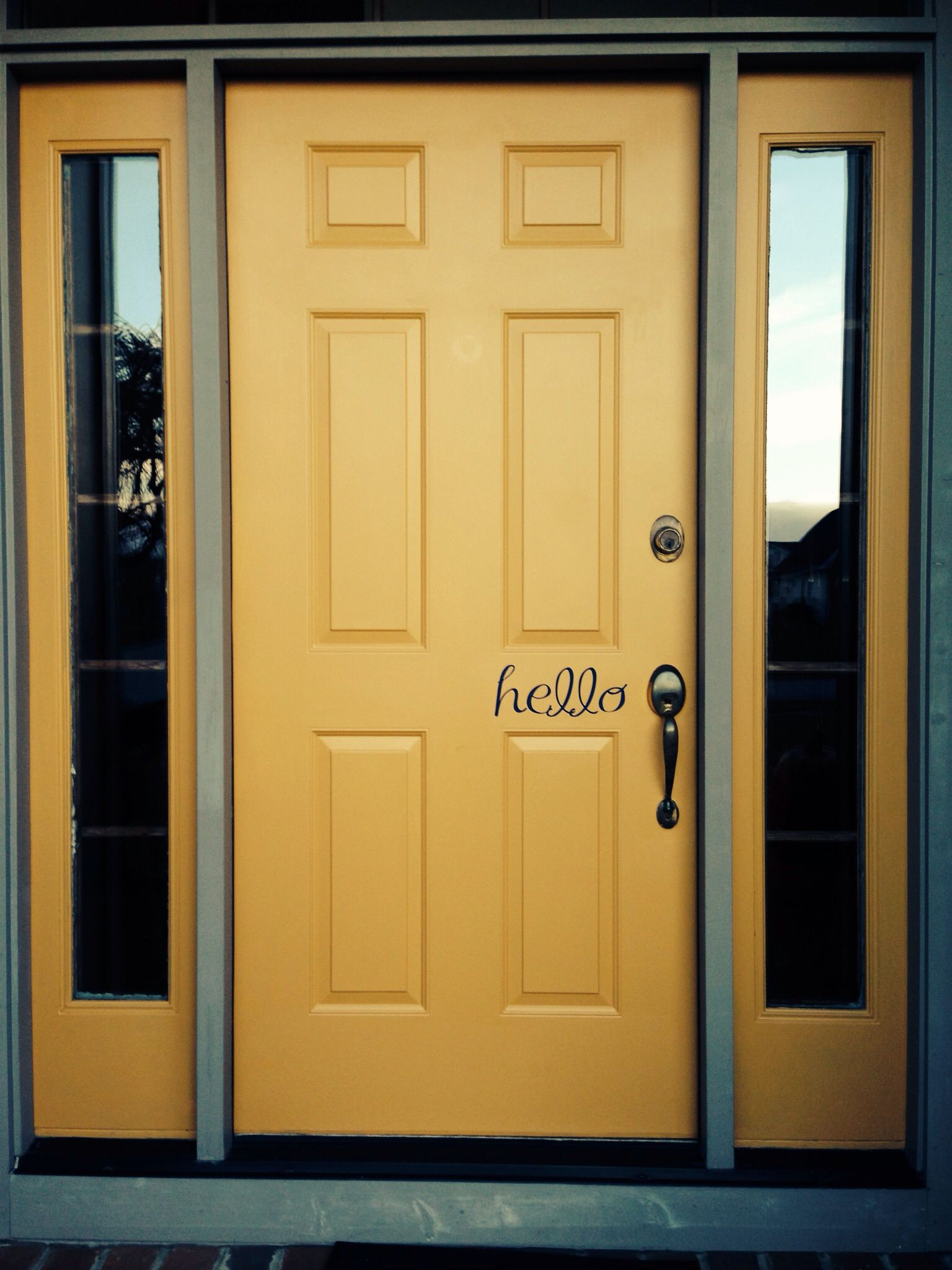 Yellow front door. Hello & Yellow front door. Hello | Been there done that | Pinterest ...