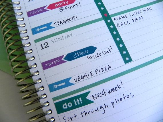 Printable Horizontal Erin Condren Stickers for Appointments \\ INSTANT DOWNLOAD \\ For your horizontal Erin Condren Life Planner