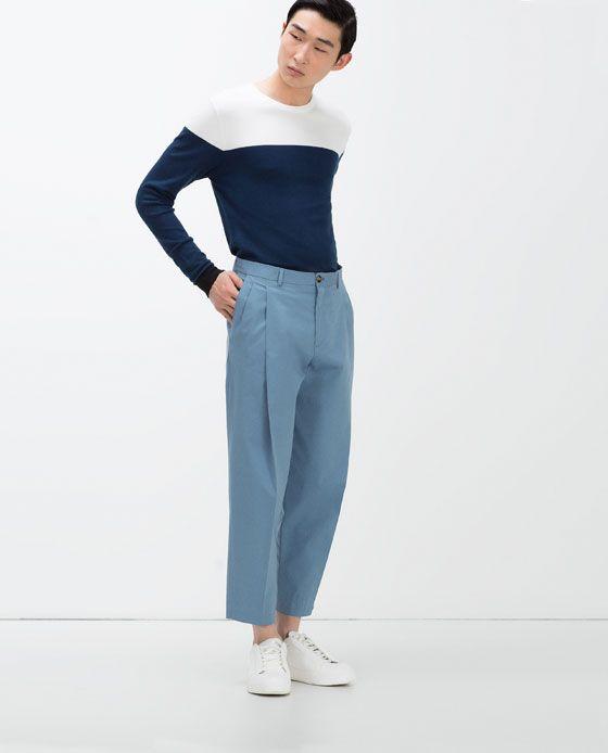 Pantalon Ancho Pinzas Ver Todo Pantalones Hombre Menswear Fashion Trousers