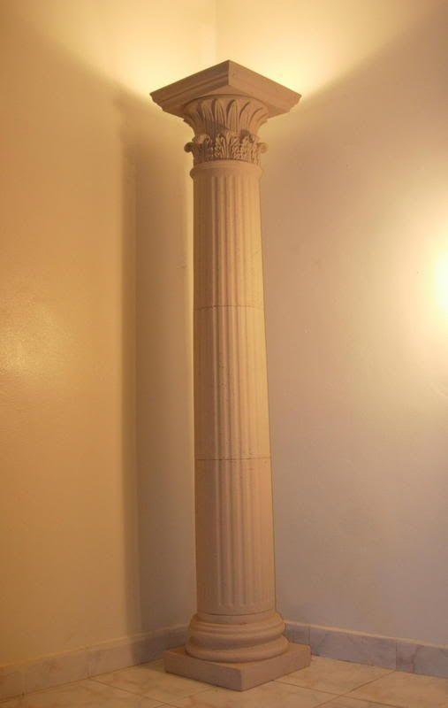 Greek Column Floor Lamp Greek Decor Greek Bedroom