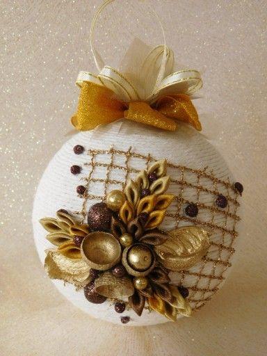 Bombka Sznurkowa Allegro Handmade Christmas Decorations Christmas Decorations Christmas Ornaments