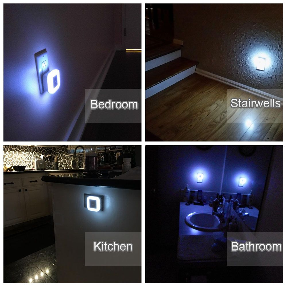 Stoon led night light with auto dusk to dawn sensor plug in wall stoon led night light with auto dusk to dawn sensor plug in wall square light lamp mozeypictures Image collections