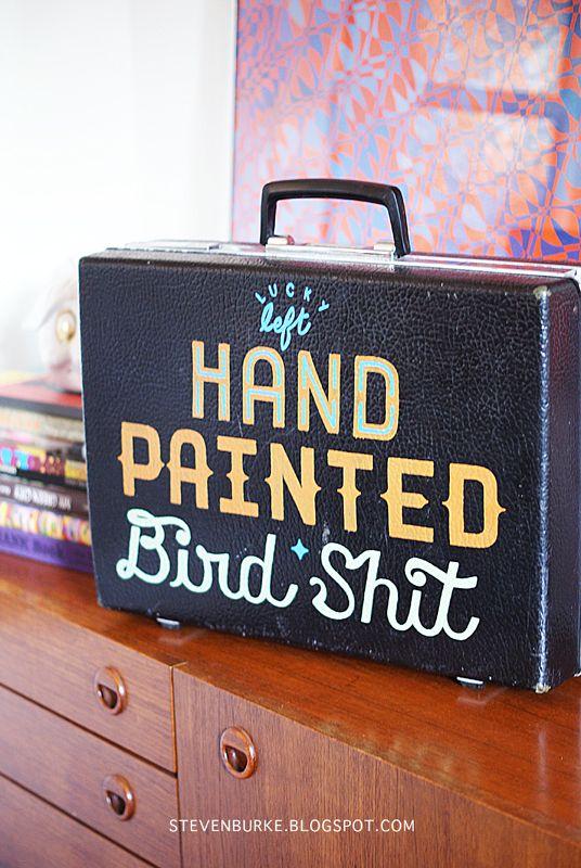 LUCKY LEFT HAND. Typography