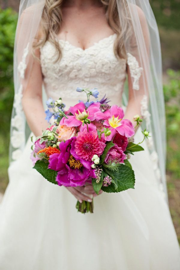 vibrant bouquet by Isari Flower Studio & Event Design