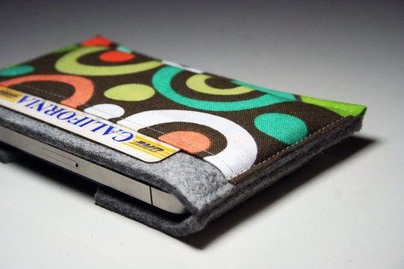 Iphone case sleeve  100 Merino Wool felt 3mm thick by AlexMLynch, $20.00