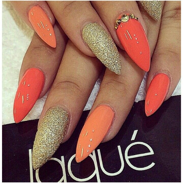 orange \u0026 gold nail art , Google Search