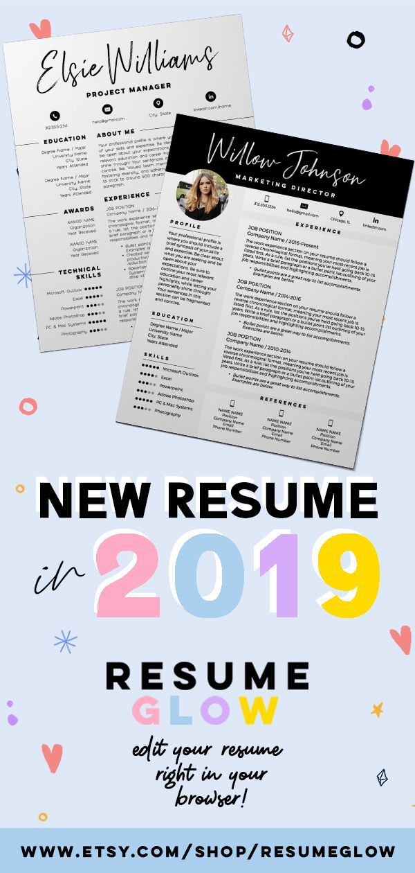 Creative, modern and easytoedit resume templates! We