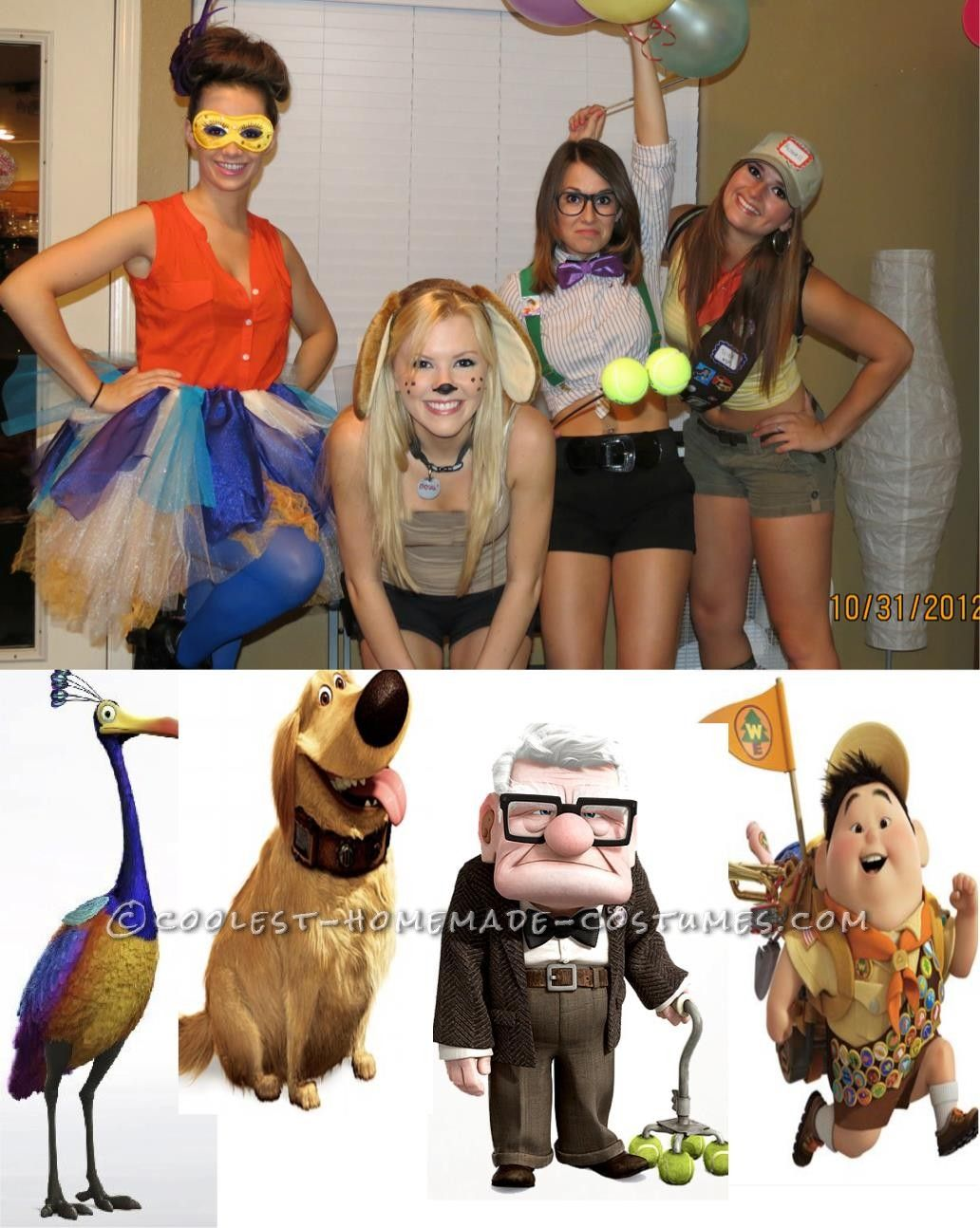 Coolest up girls group costume the old homemade for Cute homemade halloween costumes for girls