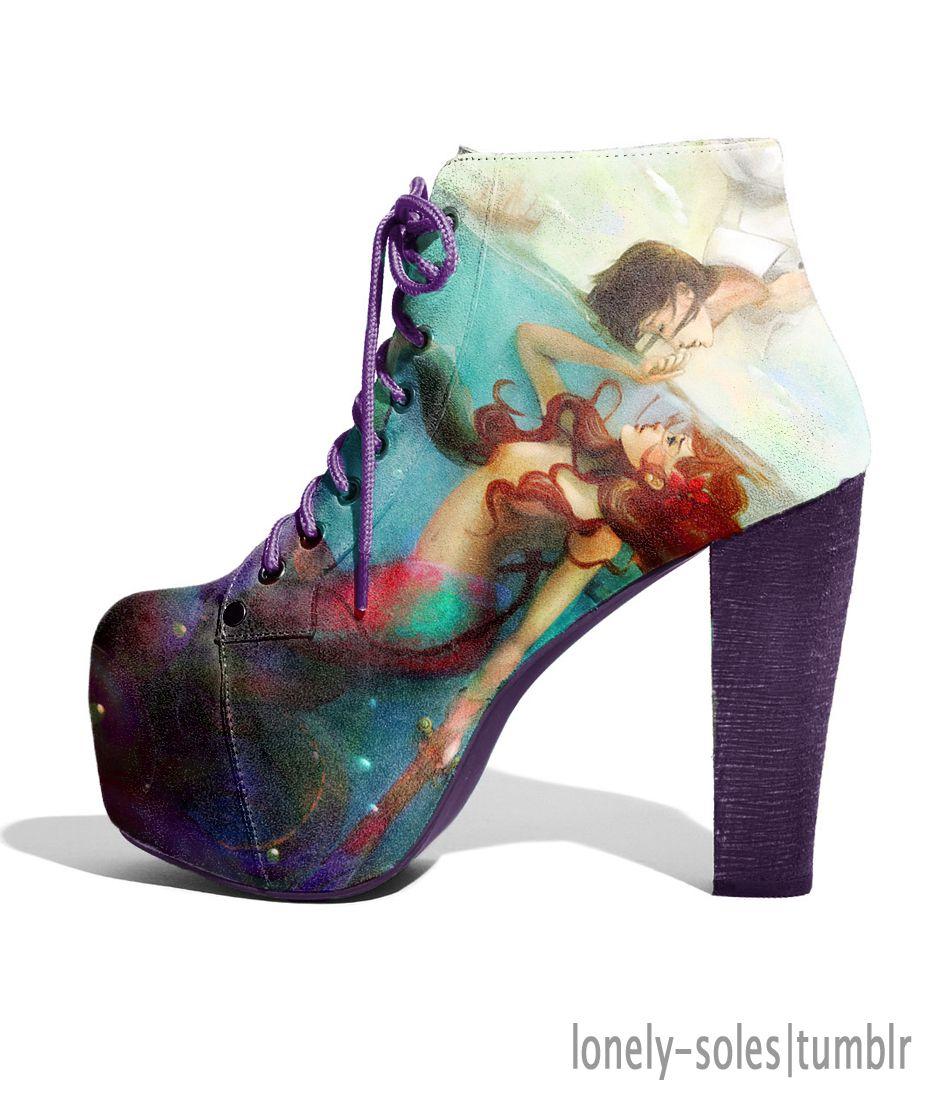 Lonely Soles Lita Shoes Winter Mermaid Shoes Disney