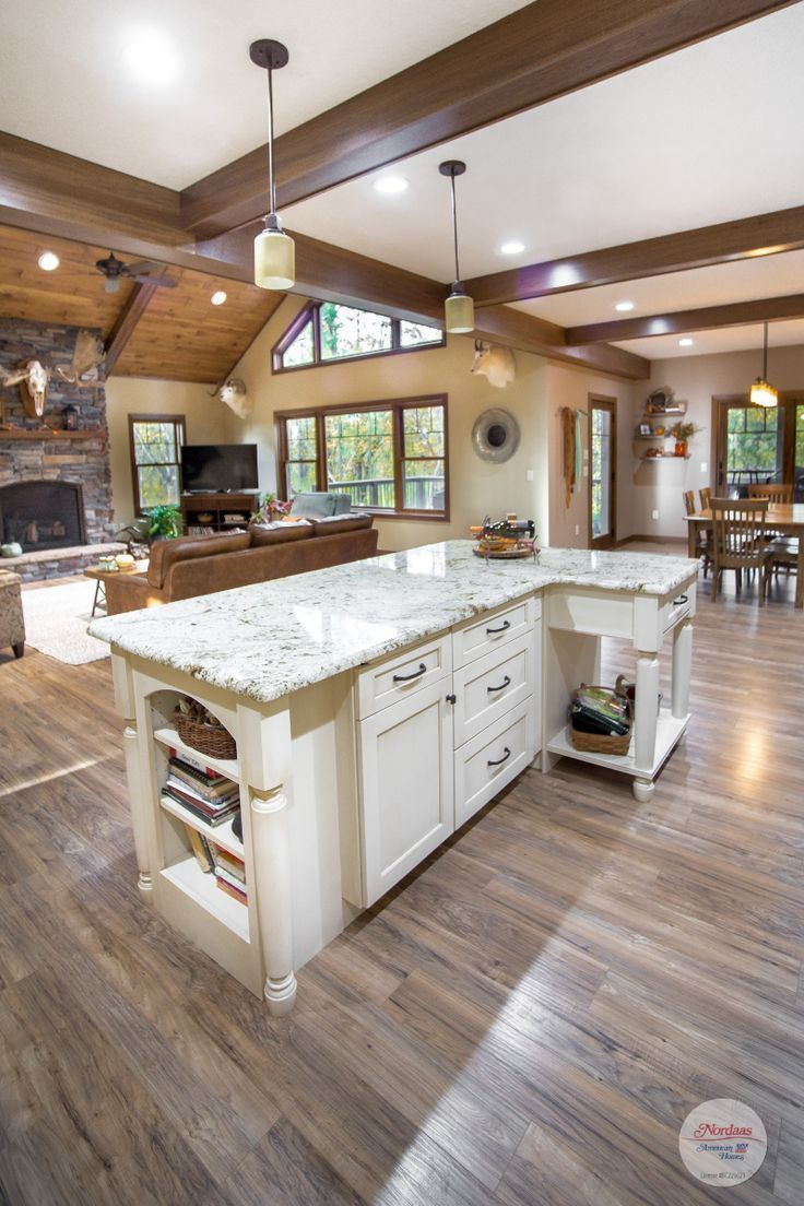 Rustic Transitional Open Concept Home featuring the ...