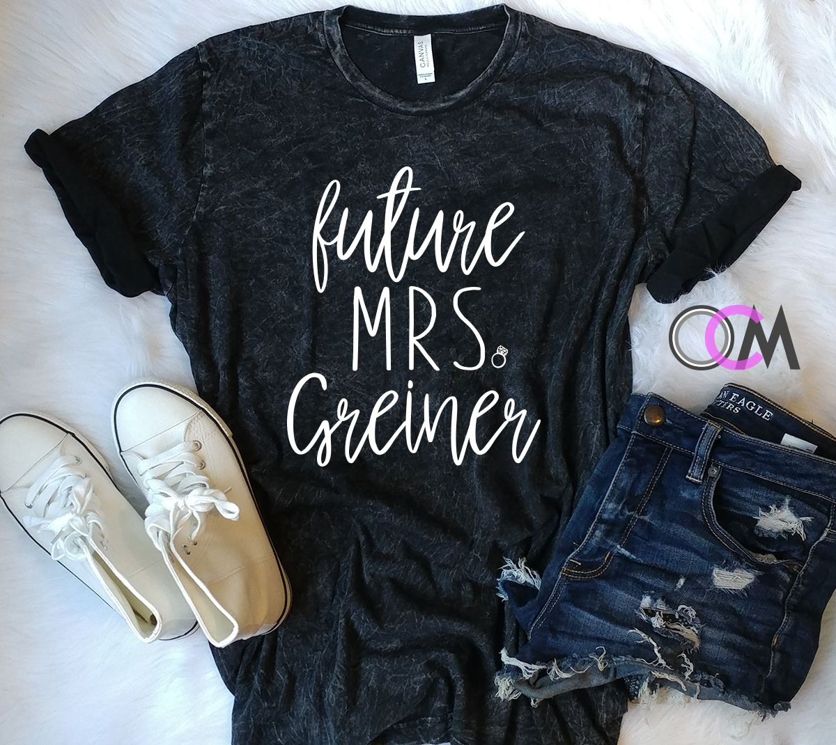 Engagement Shirt Future Mrs Custom Mineral Wash