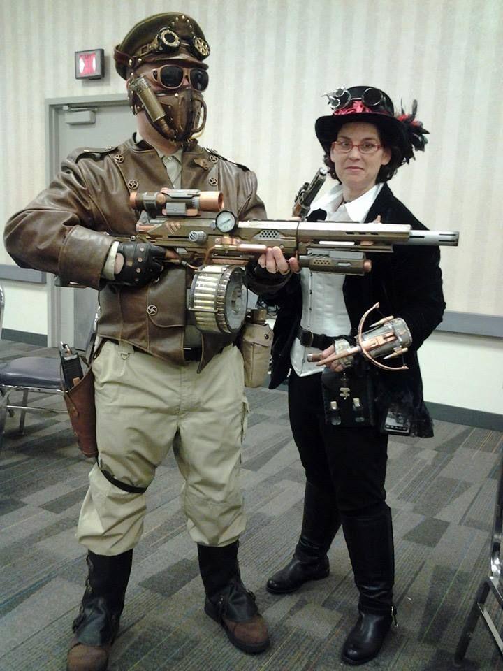 Mens /& Ladies Steam Punk Costumes Science Fiction Fantasy Military Army Uniform
