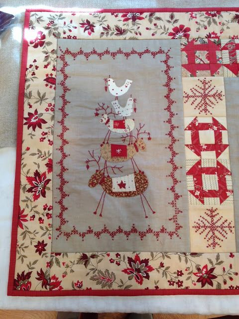 I Finished My Small Version Of Scandinavian Christmas By Lynette Anderson I Guess There Is A Reaso Scandinavian Christmas Christmas Quilts Scandinavian Quilts