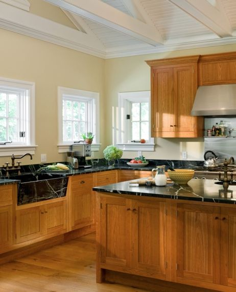 how to pick the right paint color to go with your honey oak trim and cabinets yellow kitchen on farmhouse kitchen wall colors id=30127