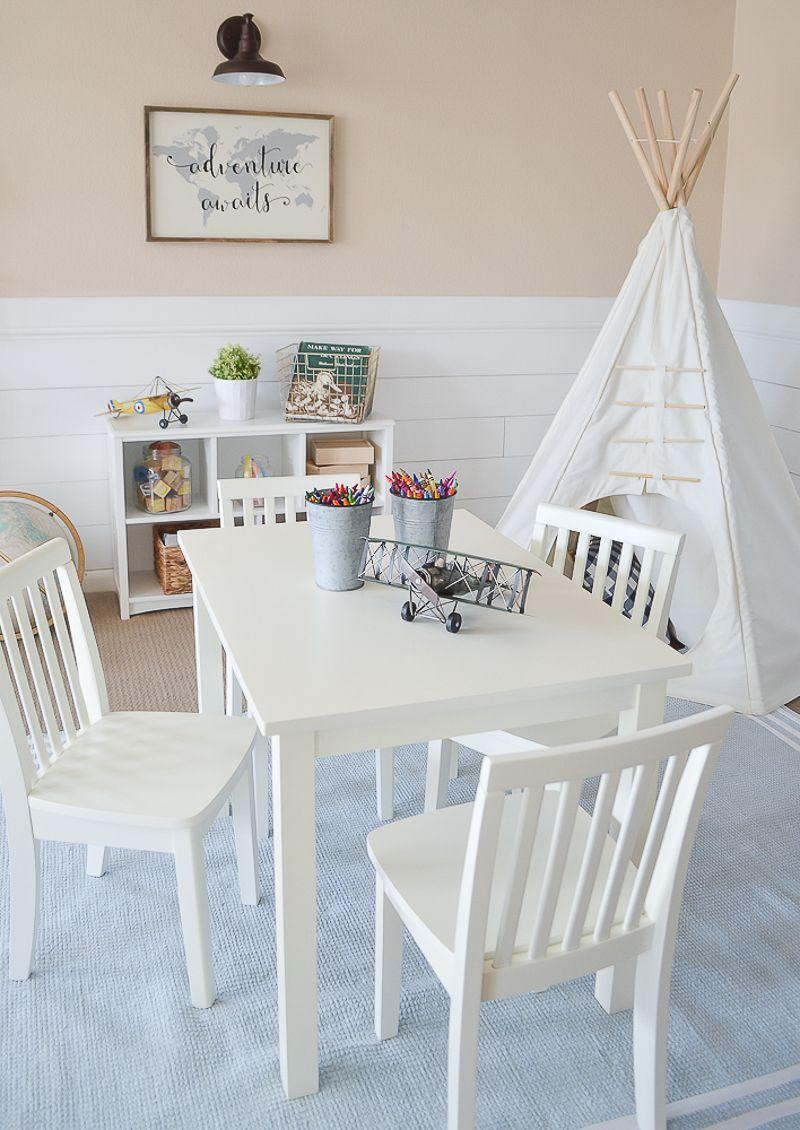 Modern Farmhouse Playroom Makeover Adorable farmhouse style