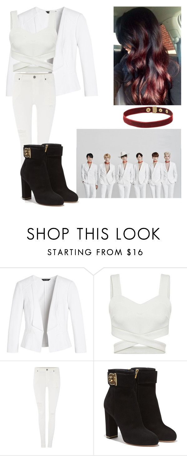 """Chained Up"" by pandagirl2102 ❤ liked on Polyvore featuring White House Black Market, Dr. Denim, Salvatore Ferragamo, women's clothing, women, female, woman, misses and juniors"