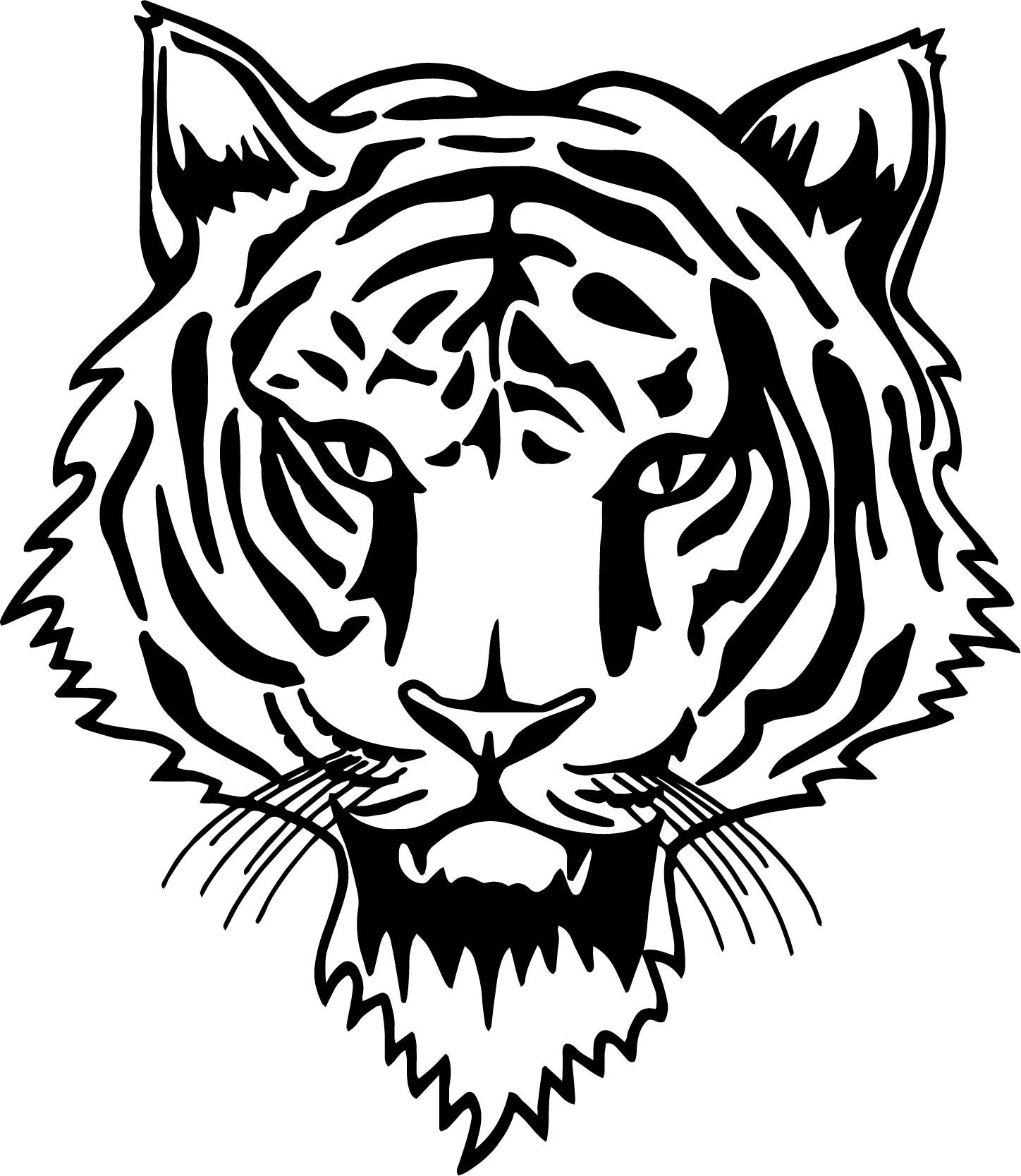 Awesome Tiger Cat Face Coloring Page Tiger Face Cat Face