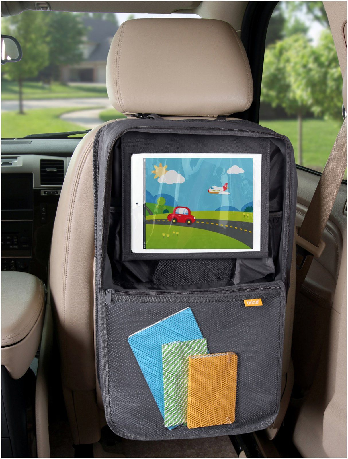 Brica i-Hide Seat Organizer with Tablet Viewer - Free Shipping | Car ...