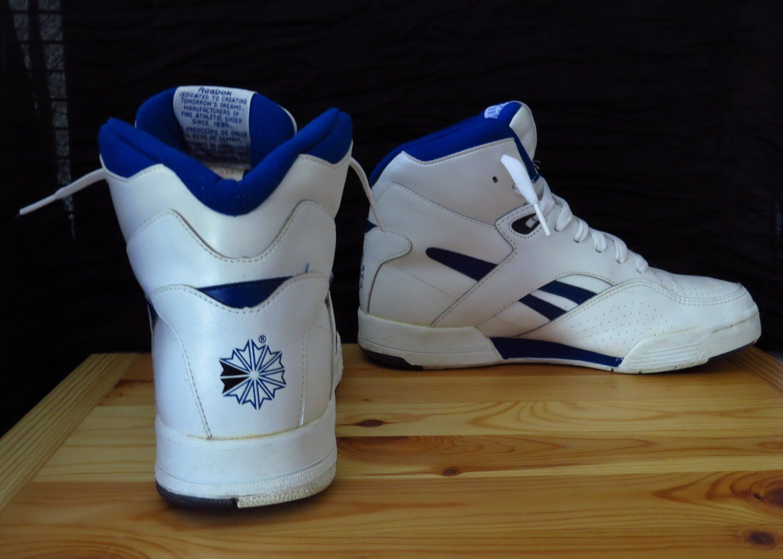 check out 839d7 e1e90 Vintage Reebok BB 4600 Ultra Hi 4 6336 White Royal Blue Black Mens US Size  7  eBay
