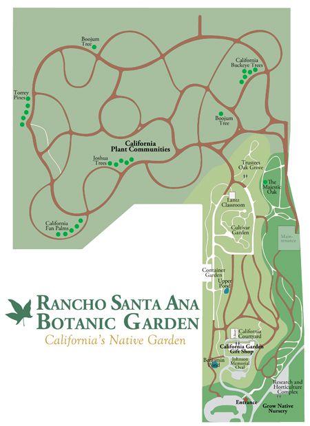 Beau Rancho Santa Ana Botanic Garden Map