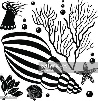 Arte vettoriale : sea life elementi di design