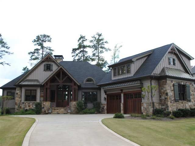 Cedar And Stone Home Google Search Brick Exterior House Craftsman House Stone Houses