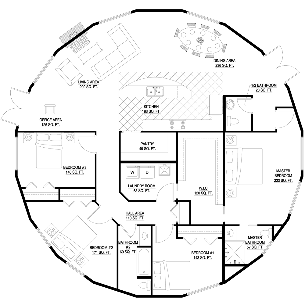 Monolithic Dome Home Plans: Round House Plans, Floor Plans