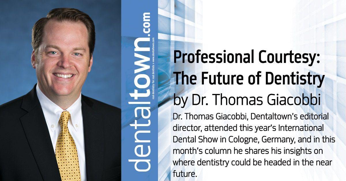 Dr. Thomas Giacobbi, Dentaltown's editorial director