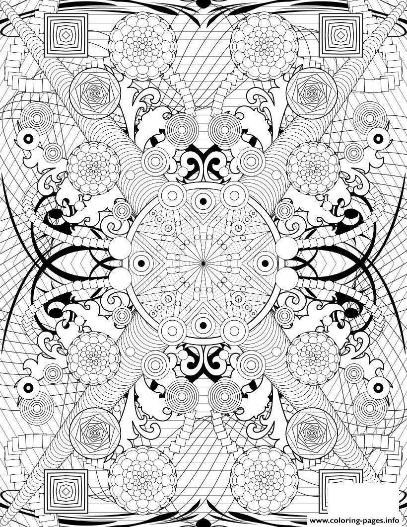 Print rosette intricate patterns hard adult coloring pages | color ...