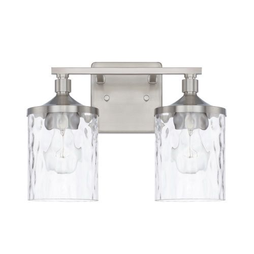 Photo of Capital Lighting Fixture Company 128821BN-451 HomePlace Colton 13 inches. Two-light vanity made of brushed nickel – brushed, mid century modern