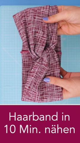 Haarband aus Jerseyresten in nur 10 Minuten nähen – die perfekte DIY Geschenkidee aus Stoffresten, die wirklich schnell geht ist dieses Stirnband, dass einfach aus Jersey genäht wird. Nähanleitung von DIY Eule. #tutorielsdecouture