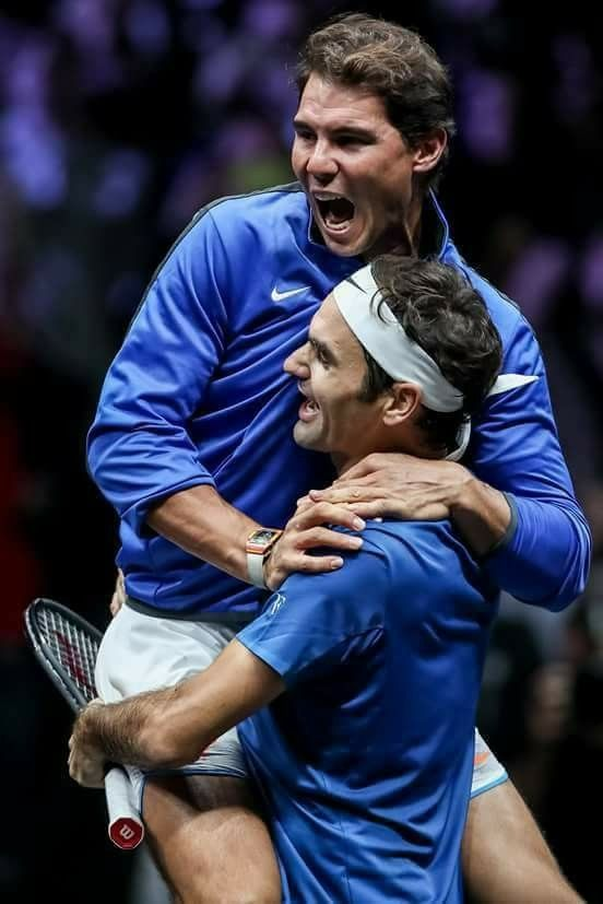 To See Such True Teamwork From Two Guys Who Have Strived For The Number One Position For Many Years Is Inspiring Don Tennis Legends Roger Federer Nadal Tennis