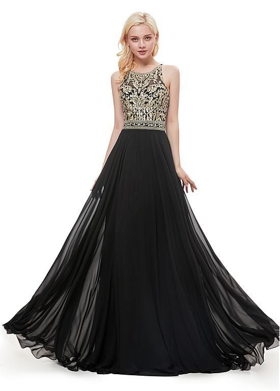 Jewel Embroidered Prom Dress