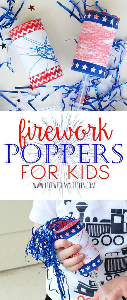 Firework Poppers for kids - Sugar Bee Crafts