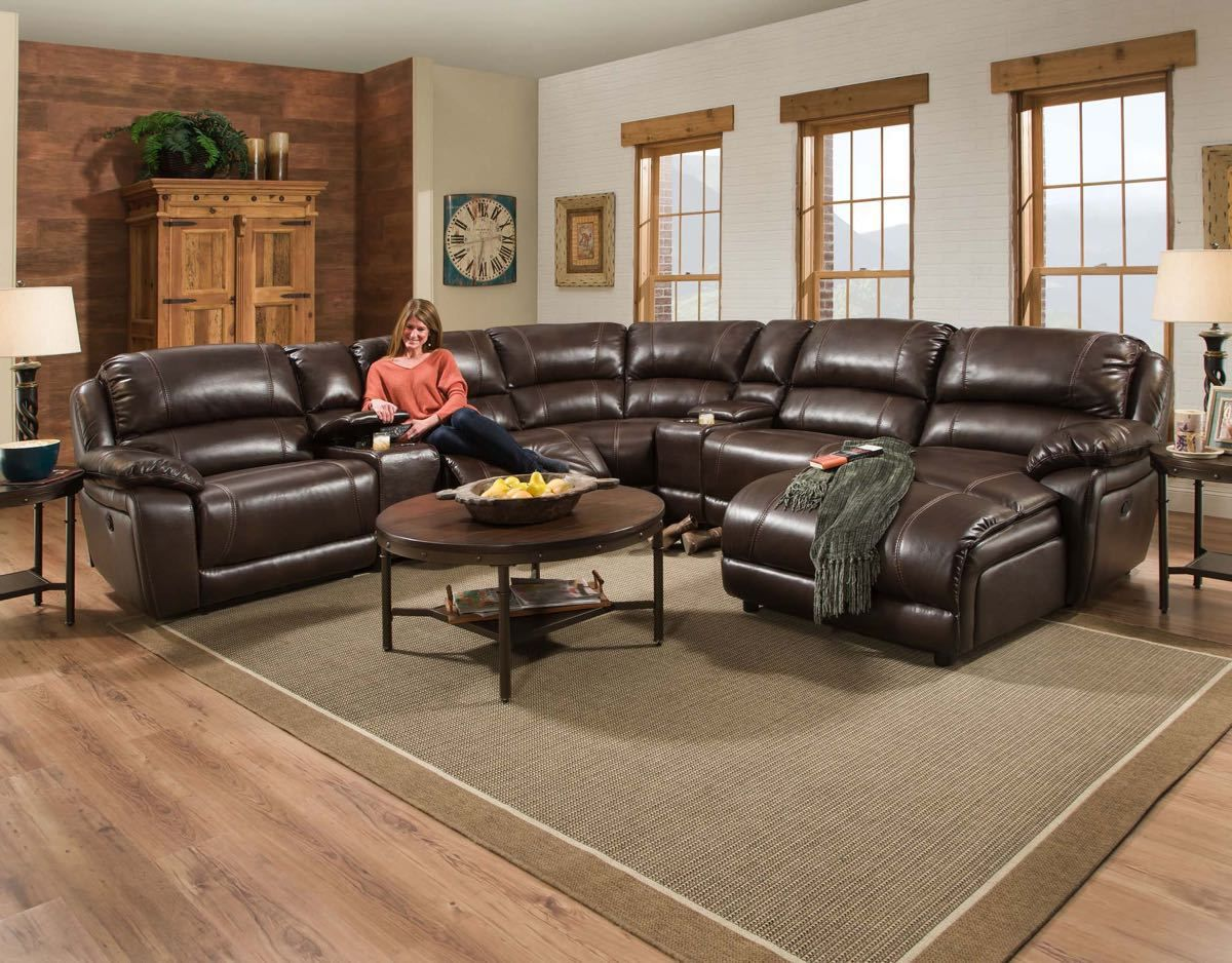 Cool Corinthian Faulkner Chocolate Leather Sectional Sectional Gmtry Best Dining Table And Chair Ideas Images Gmtryco