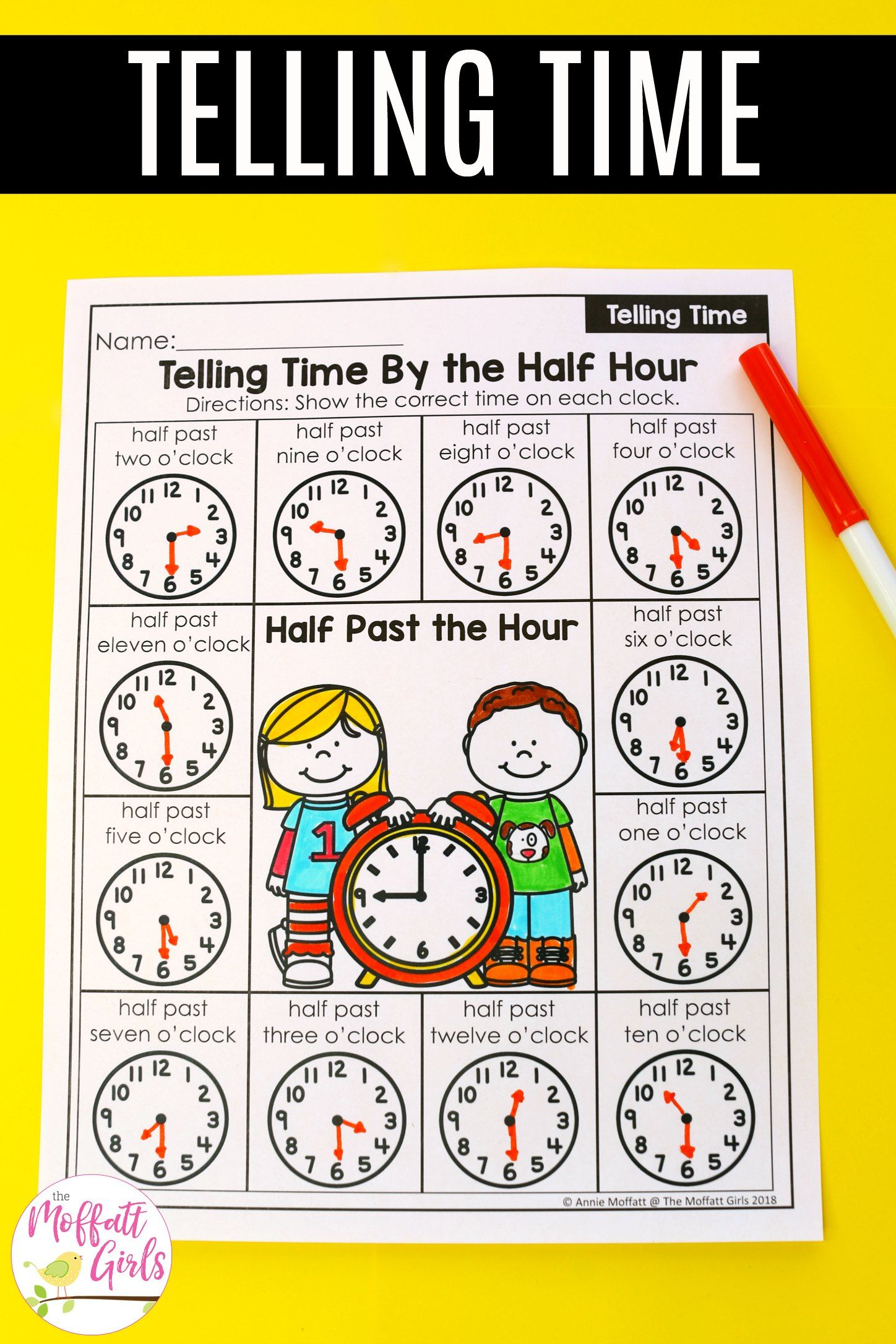 First Grade Math Time