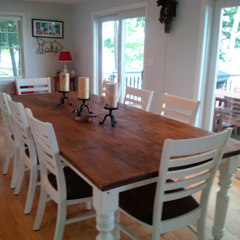 A farm table for eight dining room table