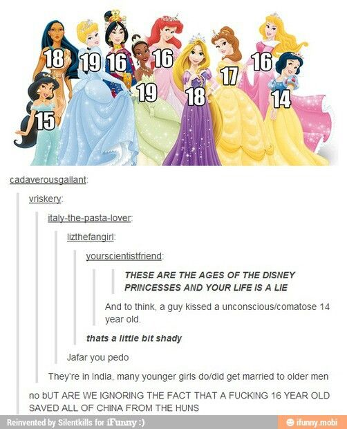 Pin By Corrine Lawhorn On Funny Disney Princess Ages Disney