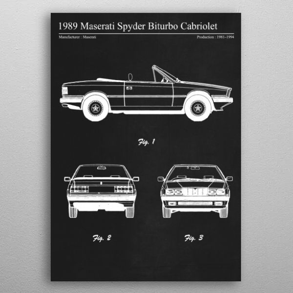 1989 Maserati Spyder by FARKI15 DESIGN | metal posters - Displate | Displate thumbnail