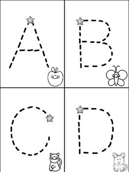 Alphabet mini books for tracking letters freebie for Printable alphabet book template