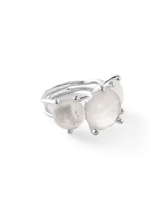 Ippolita Rosé Rock Candy Three-Stone Ring in Doublet, Size 7