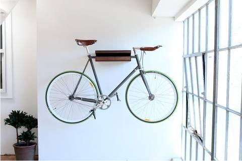 10 Ways To Hang Your Bike On The Wall Like A Work Of Art Indoor Bike Storage Bike Storage Apartment Indoor Bike Rack
