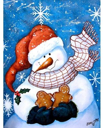 Snowman 2 Sided Polyester 40 X 28 In House Flag Christmas Art Christmas Snowman Snowman Painting