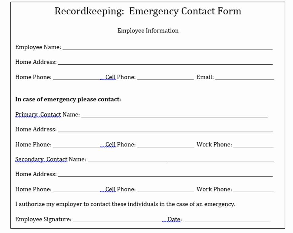 Employee Contact Information Template Unique Why Your Pany Needs To Keep Emergency Contact Emergency Contact Form Emergency Contact Contact Form