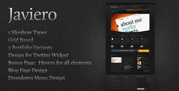 Javiero - Creative PSD Template by yashma IncludedIncluded 8 psd files 00_slideshow01_home02_company 03_portfolio03_2column_portfolio04_blog04_blog_singlepost05_contacts 06