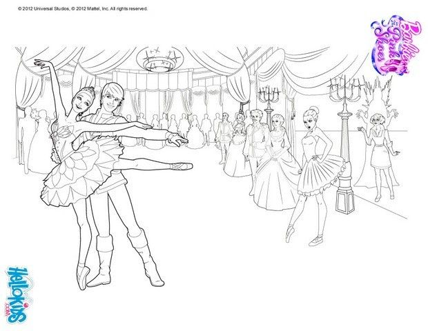 Kristyn and Hilarion Barbie coloring page. More Barbie Ballerina ...