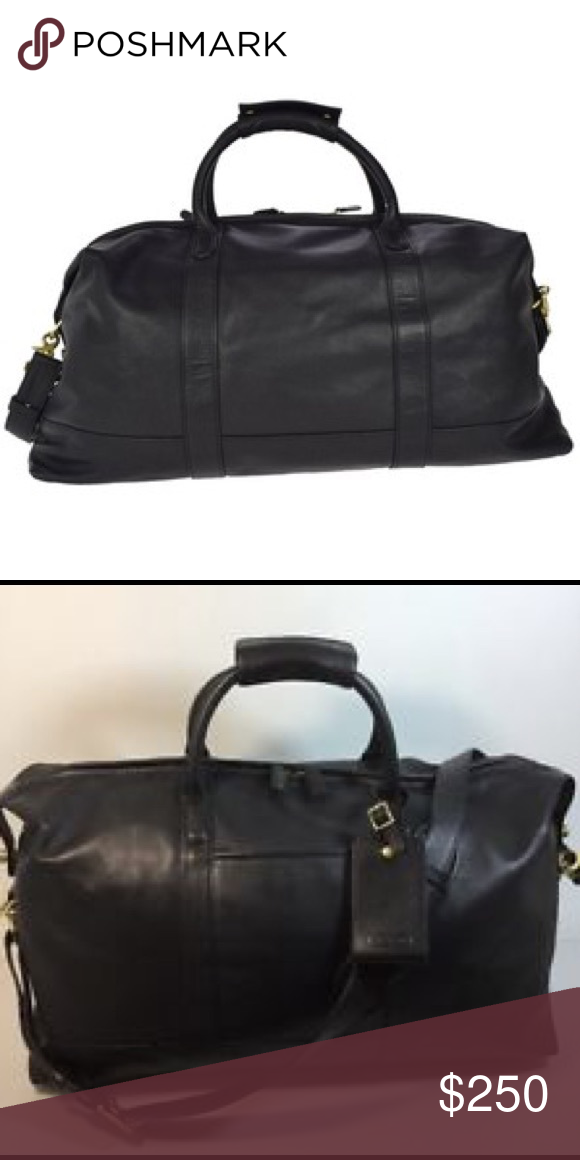 Coach Travel Duffle Luggage Carry On Xl Weekender Bag Black Leather No 503 Mint Inside And Out Other
