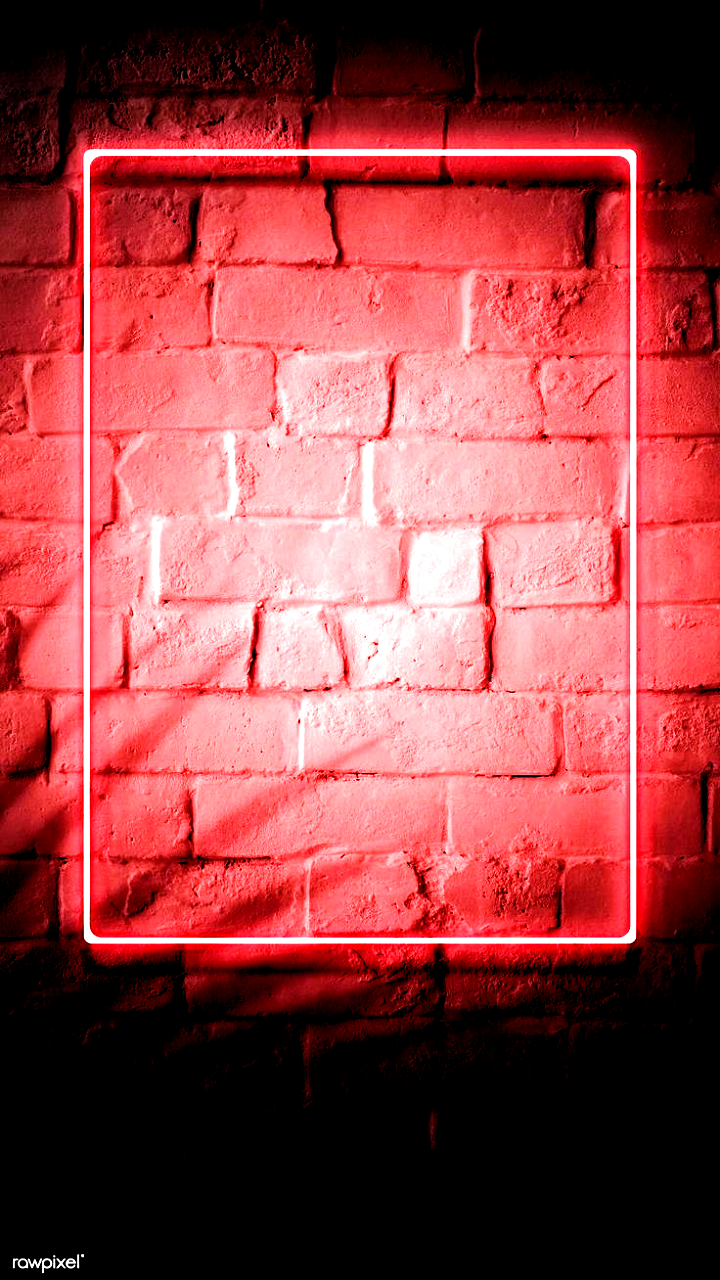 Download Premium Image Of Neon Red Frame On A Brick Wall 894328 Download Premium Brick Download Frame Image Neon Premium Red Frame Neon Brick Wall